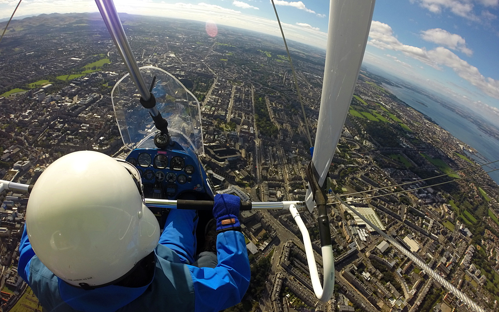Trial flight over Edinburgh